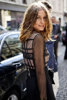 I want to cut my hair off like hers.... Olivia Palermo.