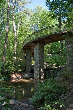 Millsap Canopy Bridge at Garvan Gardens in Hot Springs, Arkansas