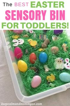 #Easter Sensory Bin, Sensory Activities, Sensory Activities For Toddlers, Sensory Activities For Preschoolers, Sensory Toys, Sensory Bin Ideas, Sensory Projects, Activities For Kids