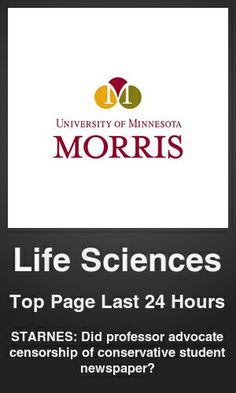Top Life Sciences link on telezkope.com. With a score of 877. --- STARNES: Did professor advocate censorship of conservative student newspaper?. --- #lifesciences --- Brought to you by telezkope.com - socially ranked goodness
