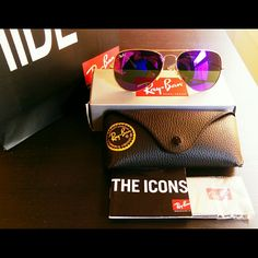 NWT Ray Ban Aviator 3025 Purple Flash Lens up to 70% sale from original outlet store!  Size: 58mm  100% authentic 100% guaranteed money back in 7 days 100% 5 star ratings 100% satisfied customers   Item comes with original case and additional Ray Ban  shopping bag