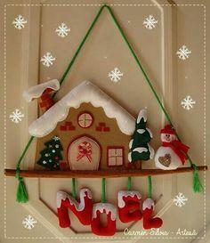 colgante pared navideño