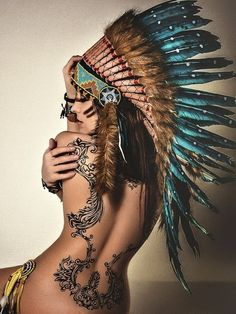 No, for real, stop posting ugly pictures of naked white women in fake headdresses in the #native american tag.
