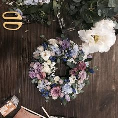 간만의 꽃수업은 인스타를 하게하네 . . . #바네스플라워#리스만들기
