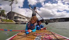 Ingo Rademacher SUP Fishing with Sons - SUP Magazine