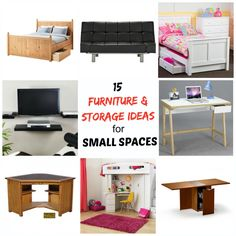 Looking for furniture for small spaces, or some extra storage inspiration. Check out these 15 great ideas to inspire your home decorating.