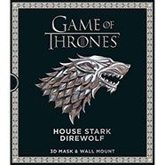 Game of Thrones House Stark Direwolf Mask & Wall Mount
