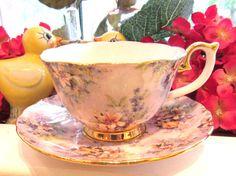 Lina Liu's Tea Cup and Saucer  Lina Liu's by VintageGlassEscape