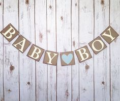 BABY BOY banner its a boy banner it's a boy by TheTangledTwine