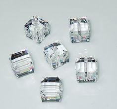 Swarovski 5601 8mm Clear Crystal Cube Beads by BestBuyDesigns