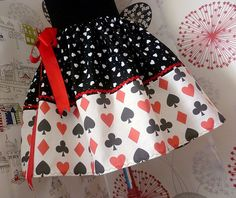 Fancy Dress,Queen Of Hearts, Queen Of Hearts Costume, Womens Costume, Full Skirt, ROOBYS. £35.00, via Etsy.