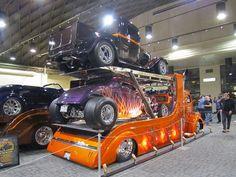 Hot rod , hot rod hauler double decker