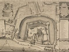 The Tower of London in 1597. This map is reproduced in the opening pages of The Sorcerer's Letterbox. http://simon-rose.com/books/the-sorcerers-letterbox/the-princes-in-the-tower/