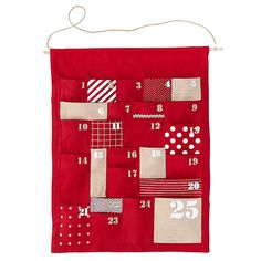 Kids' Holiday Decor: Kids Chambray Christmas Advent Calendar in Calendars Countdown Calendar, Diy Advent Calendar, Advent Calendars, Calendar Ideas, Land Of Nod, Funny Birthday Cards, Holidays With Kids, Merry And Bright, Xmas Decorations