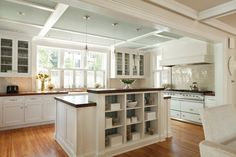 A custom island separates the new kitchen and family room.