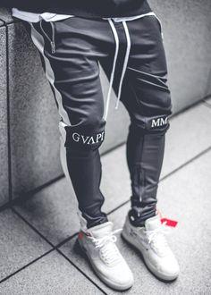 Obsidian Black Track Pants - Men's style, accessories, mens fashion trends 2020 Track Pants Mens, Mens Jogger Pants, Jogger Pants Style, Adidas Joggers, Sweatpants, Men Street, Street Wear, Look Cool, Streetwear Fashion