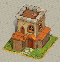 ArtStation - Isometric buildings, Maksim Kneht