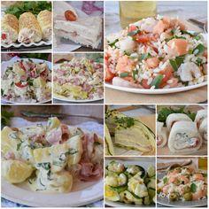 Insalate di riso e Piatti Freddi estivi Ratatouille, Menu, Fresh Rolls, Italian Recipes, Potato Salad, Buffet, Picnic, Food And Drink, Lunch
