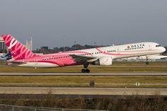 Delta Air Lines Blog   Pink Plane - Delta Air Lines Boeing 757-232 (N610DL) **Breast Cancer Awareness Plane**