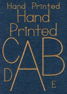 608 Hand Printed Satin Font - Jolson's Designs