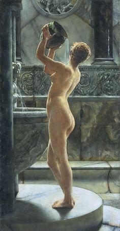 """John Reinhard Weguelin -- """"The Bath"""" (1884)"""