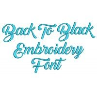 Back To Black Embroidery Font