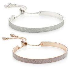 Mood Set of two glitter embellished bar toggle bracelet-   Debenhams