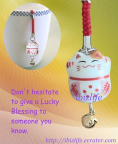 < Bless others -Lucky Bell Charm > -- Lucky bell charms ----------------------------- ♡♡ Don't hesitate to give a Lucky Blessing to your LOVE or your RESPECT. Both of you will enjoy a comfort and happiness once you do it. ♡♡ ----------------------------------   Can be used as Zip pull, charm or USB drive.  ♡❤♡❤♡  #love #ZipPull #Purse #Backpack #accessories #arrow #gift #blessing #charm #ManekiNeko #LuckyCat #Lucky #accessories #cute #Smileface ♡❤♡❤♡