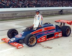 1982 winning car driven by Gordon Johncock to his Indianapolis won before in which is considered the most uneventful race in Indy history. Indy Car Racing, Indy Cars, Drag Racing, Indy 500 Winner, Cooper Tires, Mario Andretti, Indianapolis Motor Speedway, Old Race Cars, Sprint Cars