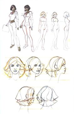 by Terry Dodson, sketchbook 2009