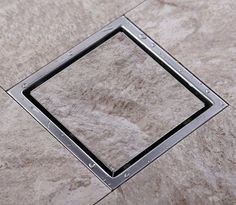 Tile Insert Square Floor Waste Grates Bathroom Shower Drain 150 x 150MM,304 Stainless steel