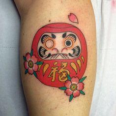 #daruma #darumadoll #tattoo #irezumi #horimono #sakura grazie by marcominoni