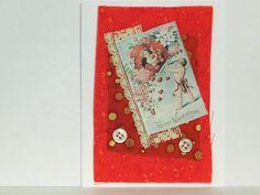 Victorian cupid notecard