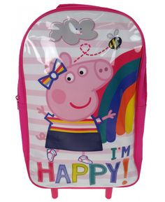 This Peppa Pig Wheeled Trolley Bag is ideal for holidays and sleepovers when your little one wants to have a suitcase of their very own! FREE P+P available.