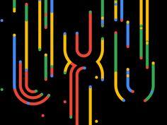 motion graphic UXU by Jonas Naimark Animation Stop Motion, Text Animation, Typography Poster, Typography Design, Motion Logo, Cool Optical Illusions, Web Design, Logo Reveal, Arte Popular
