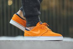Sunset Orange Suede Hits The Nike SB Janoski