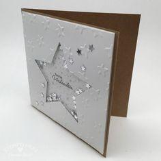 Stampin Up - Stempelherz - weihnachtliche Schüttelkarte Frohe Weihnachten 03