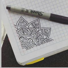 How to draw a Mandala Doodle Art Drawing, Zentangle Drawings, Mandala Drawing, Pencil Art Drawings, Zentangle Patterns, Easy Drawings, Art Sketches, Mandala Doodle, Dibujos Zentangle Art