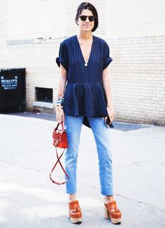 63 Denim Street Style Looks to Inspire You Now via @WhoWhatWearAU
