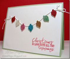 Stampin Up Christmas, Christmas Cards To Make, Christmas 2014, Christmas Themes, Xmas, Christmas Light Bulbs, Christmas Challenge, Christmas Accessories, Scrapbook Cards