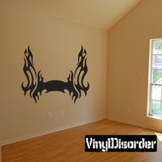 Tribal Flames Frame Wall Decal - Vinyl Decal - Car Decal - DC 035