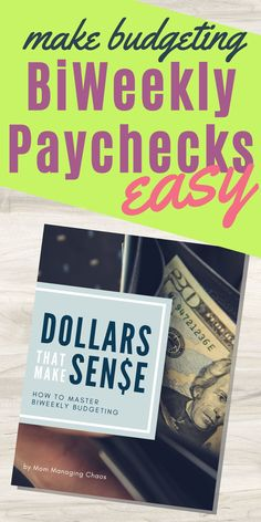 Are you struggling with how to create a monthly budget with biweekly paychecks? Check out this bi weekly budget printable workbook.  Biweekly Budget | Bi Weekly Budget | Budgeting Money | How to Budget Your Money #budget #mommanagingchaos #money