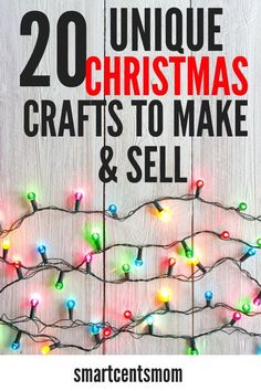 Creative ideas to make and sell at craft fairs this Christmas season. Everything from mason jars to easy DIY crafts for beginners! People are going to buy these handmade items up! #diy #etsy #crafts