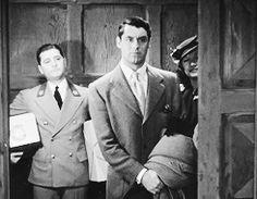 Cary Grant, elevator close