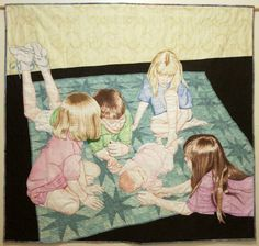 """Cousins"" by Erin Martin, a quilt from the special exhibit ""Festival Awareness: Celebrations."" 2015 Houston IQF. Photo: Quilts Inc."