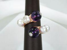 925 Sterling Silver Morrocan Amethyst Crown Solitaire Stud Earrings BNWOT 2ct