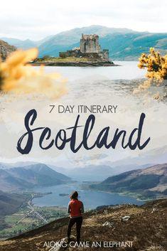 7 day road trip itinerary through Scotland