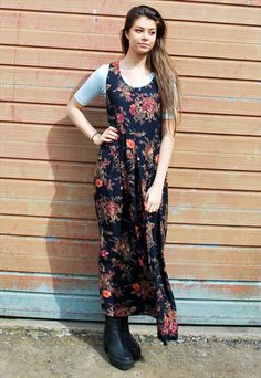 0eaaa866e28 See more. Vintage 90s Floral Maxi Dress Floral Maxi Dress