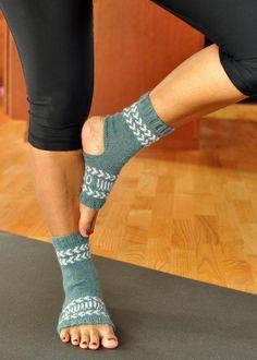 Fair Isle Yoga Socks via Craftsy