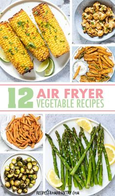 Tired of the same old boring bland veggies? These 12 Amazing Air Fryer Vegetable Recipes are exactly what you Air Fryer Recipes Vegan, Air Fryer Dinner Recipes, Roasted Vegetable Recipes, Healthy Vegetable Recipes, Air Fryer Healthy, Lunch Recipes, Appetizer Recipes, Vegetarian Recipes, Weight Watcher Vegetable Recipes